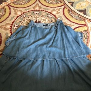 NWOT Denim Maxi Dress